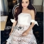 Lady Ribbon Korea Mini Dress LR18270616 &#x1F380 Lady Ribbon's Made &#x1F380 Lady Maria Sweet Sexy Stripy Ribbon Lace Dress thumbnail 3