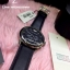 Emporio Armani Oversize Gents Chronograph Watch, Black Dial, Black Leather Strap thumbnail 3