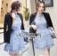&#x1F380Lady Ribbon's Made &#x1F380Lady Ariana Sweet Feminine French Lace Dress in Light Blue thumbnail 1