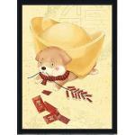 ชุดภาพติดคริสตัลกลม ลายน้องหมาทองทับ ( งานติดเต็มภาพ ) ขนาด 38*50 ซม. คริสตัลกลม 30 สี อุปกรณ์ครบชุด