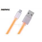 สายชาร์จ REMAX หัวอะลูมิเนียม Micro USB (สีส้ม)