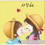 อุปกรณ์งานฝีมือ-diy-ครอสติสคริสตัลรูปการ์ตูนเด็กจูบกัน