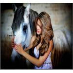 ม้าสีขาวและสาวงาม
