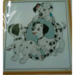 ชุดปักครอสติช ลาย สุนัข Dalmatians ขนาด 27*29 ซม.ผ้าครอสติช 14 CT ไม่พิมพ์ลายปัก ไหมคอตตอน สี+ผังลาย+เข็ม (ส่งฟรี)
