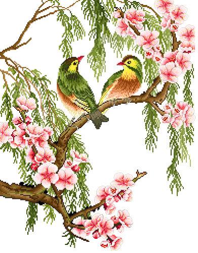 นกคู่ (ไม่พิมพ์/พิมพ์ลาย)