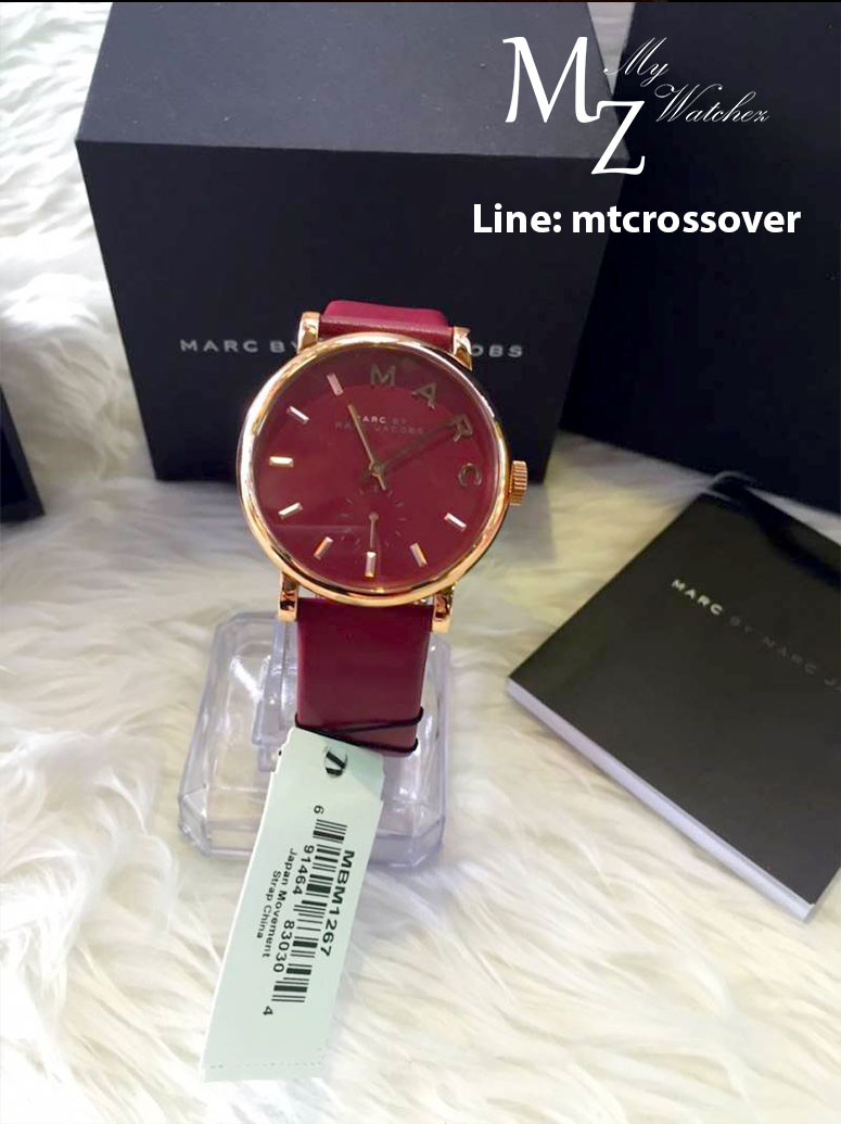 Marc Jacobs MBM1267 36mm Stainless Steel Case Red Gold Women's Watch