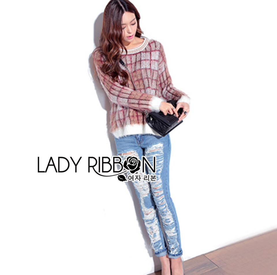 Lady Ribbon's Made &#x1F380 Lady Elina Washed Ripped Skinny Jeans