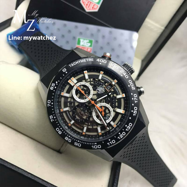 TAG HEUER CARRERA Calibre HEUER 01 Qurtaz Chronograph 45 MM - Orange