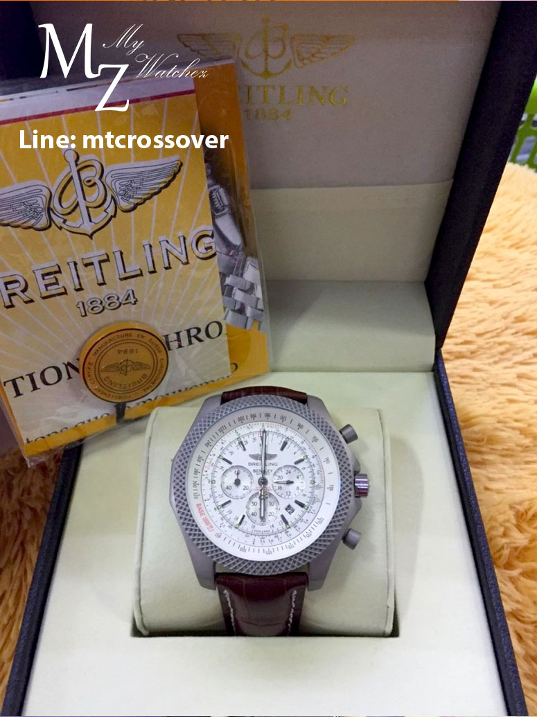 Breitling For Bentley B06 - White Dial and Brown Leather Strap (Original Version)