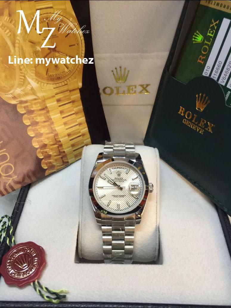 Rolex Dat Date 40 Classic White Dial
