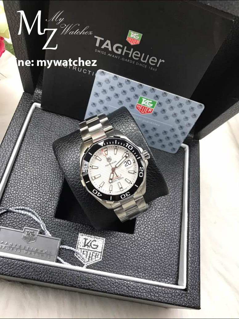 Tag Heuer AQUARACER 300 M Calibre 5 Ceramic Bezel - REF;WAY201A.BA0927 White Dial
