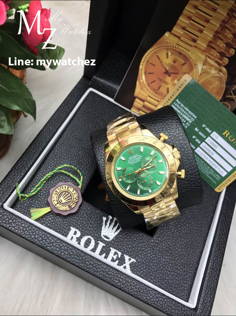 Rolex Daytona Cosmograph 2016 Ref#116508 - Green Dial Yellow Gold
