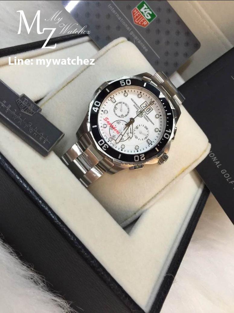 Tag Heuer Aquaracer 300M Chronograph Calibre 45 - White Dial