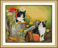 Two kittens (ไม่พิมพ์/พิมพ์ลาย)