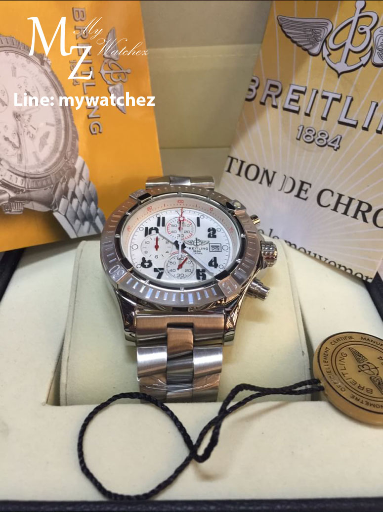 Breitling Super Avenger I Watch A13370 - Stainless White Dial