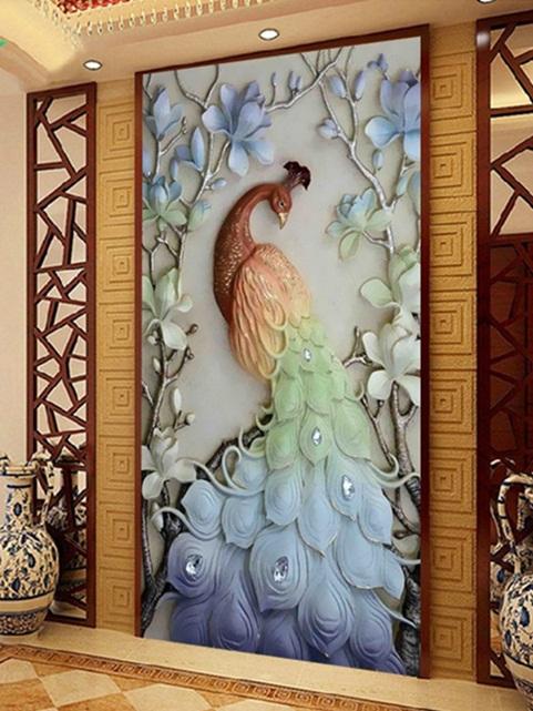 Peacock & Magnolia (พิมพ์ลาย)