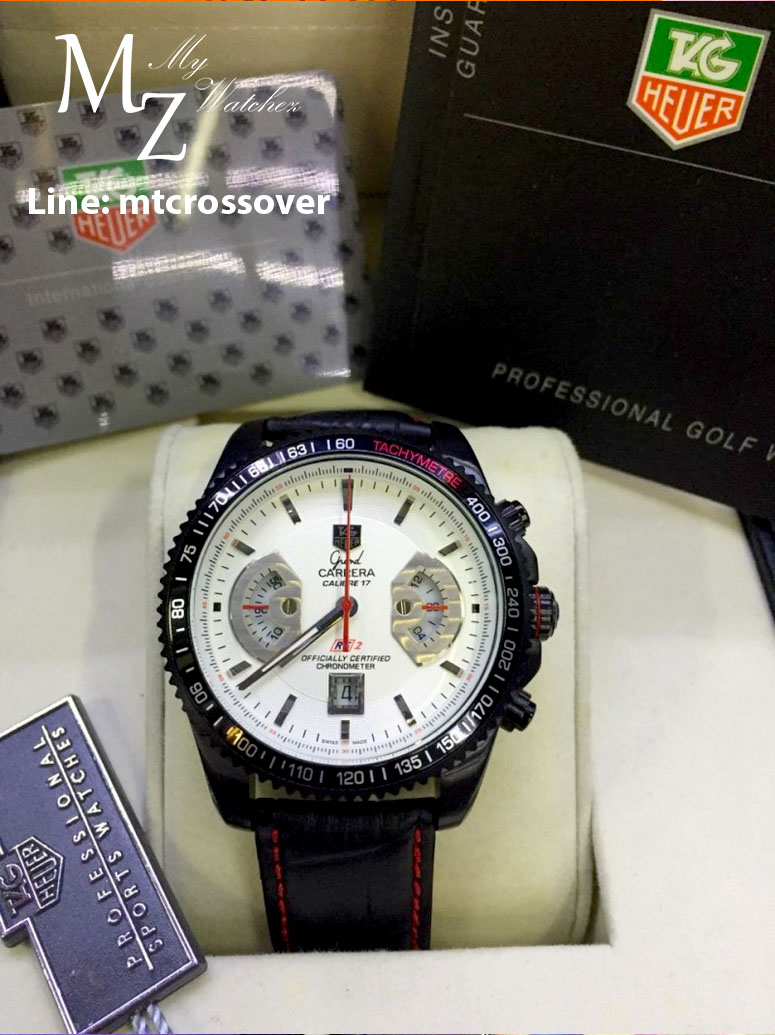 TAG HEUER Grand Carrera 17RS Caliper Chrono - White Dial and Black Case