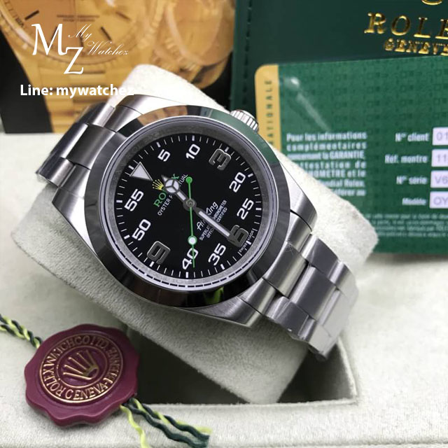 Rolex Oyster Perpetual Air King 40MM - Black Dial/Stainless Ref#116900