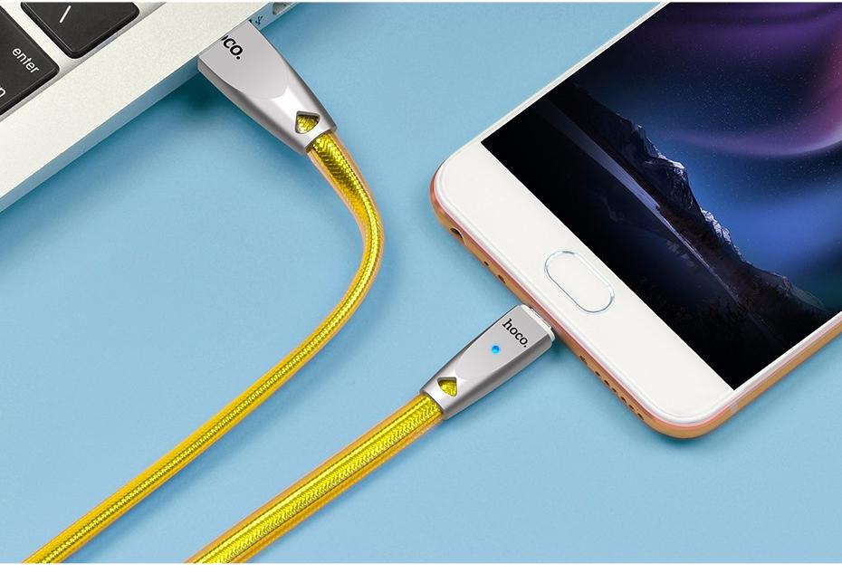 สายชาร์จ Micro USB Hoco U9 Zinc Alloy 1.2 เมตร