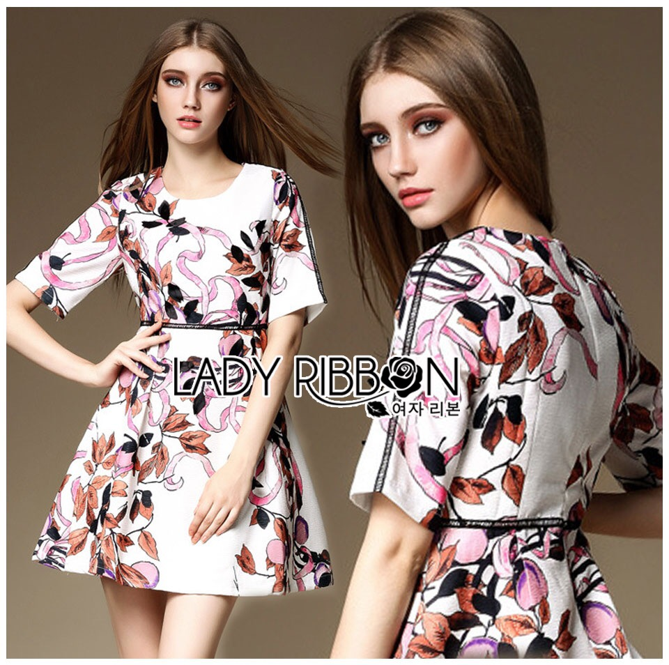 Lady Ribbon Korea Lady Ribbon's Made &#x1F380 Lady Abigail Feminine Spring Floral Printed Dress Korea