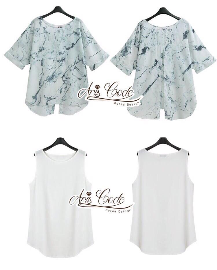 Closet Lady &#x1F49E&#x1F4ABSet chiffon shirt vest Parure model quality by Aris Code