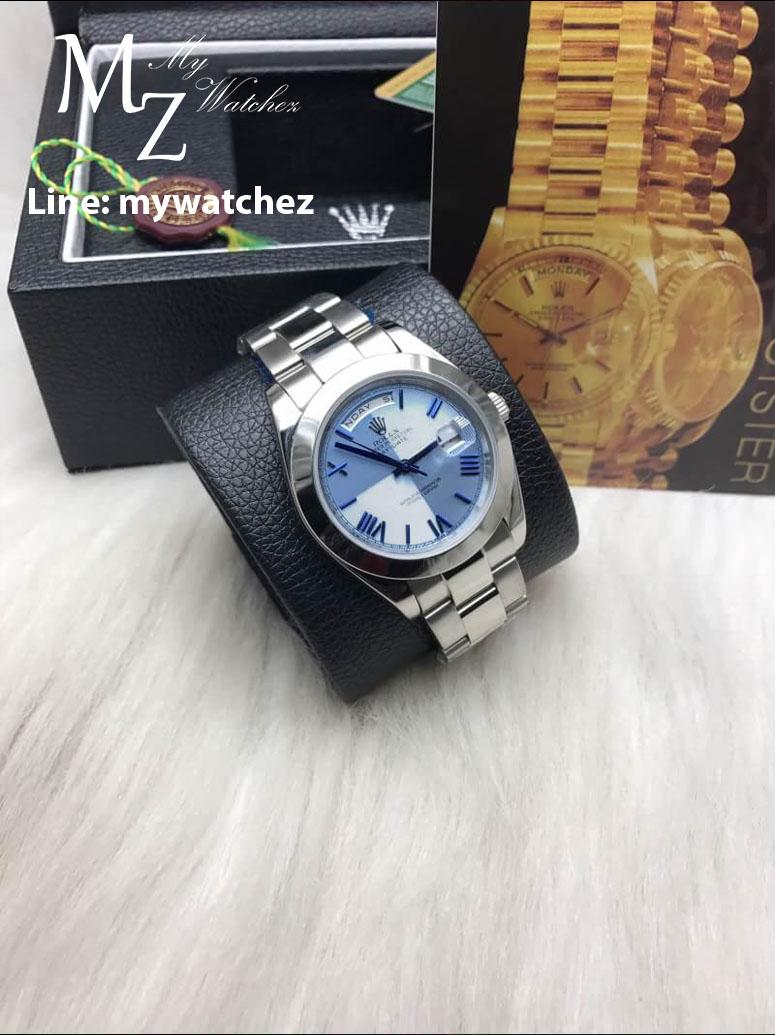 Rolex Day Date Ice-Blue Platinum REF:228206
