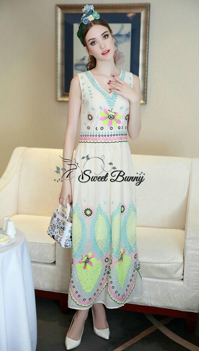 Lady Ribbon Korea Closet SB 06300516 Sweet Bunny Present... Beautiful Maxi Dress