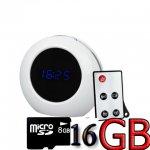กล้องนาฬิกาตั้งโต๊ะ - สีขาว ดำ HD720P ฟรี พร้อมใช้งาน เมมโมรี่ 8G จัดส่ง EMS FREE