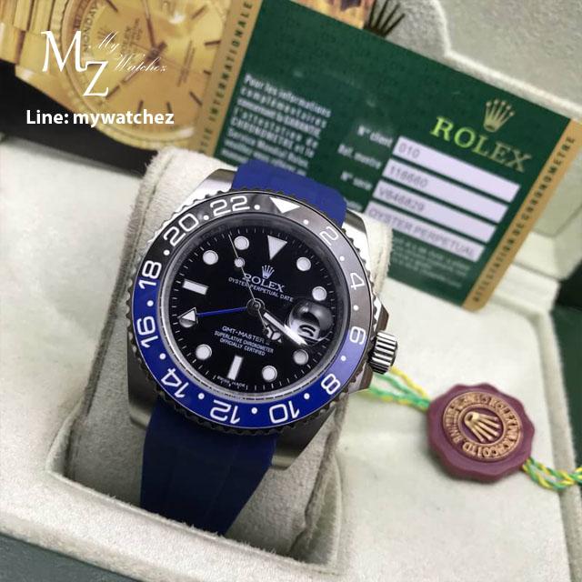 Rolex GMT MasterII Ref: 11671BLRO Batman/Silicone