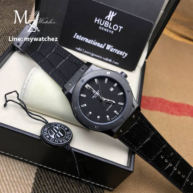 Hublot Classic Fusion - PVD Black/Leather