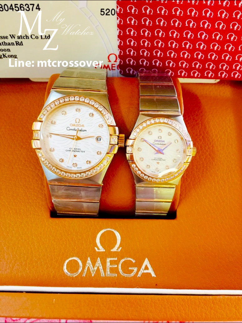 Omega Constellation Co-Axial for Ladies Diamond Dial and Gold case