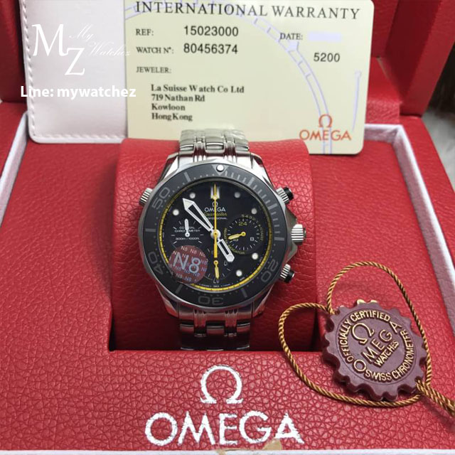 Omega Seamaster Diver 300 Co-Axial Chronograph 44MM - Yellow Bezel