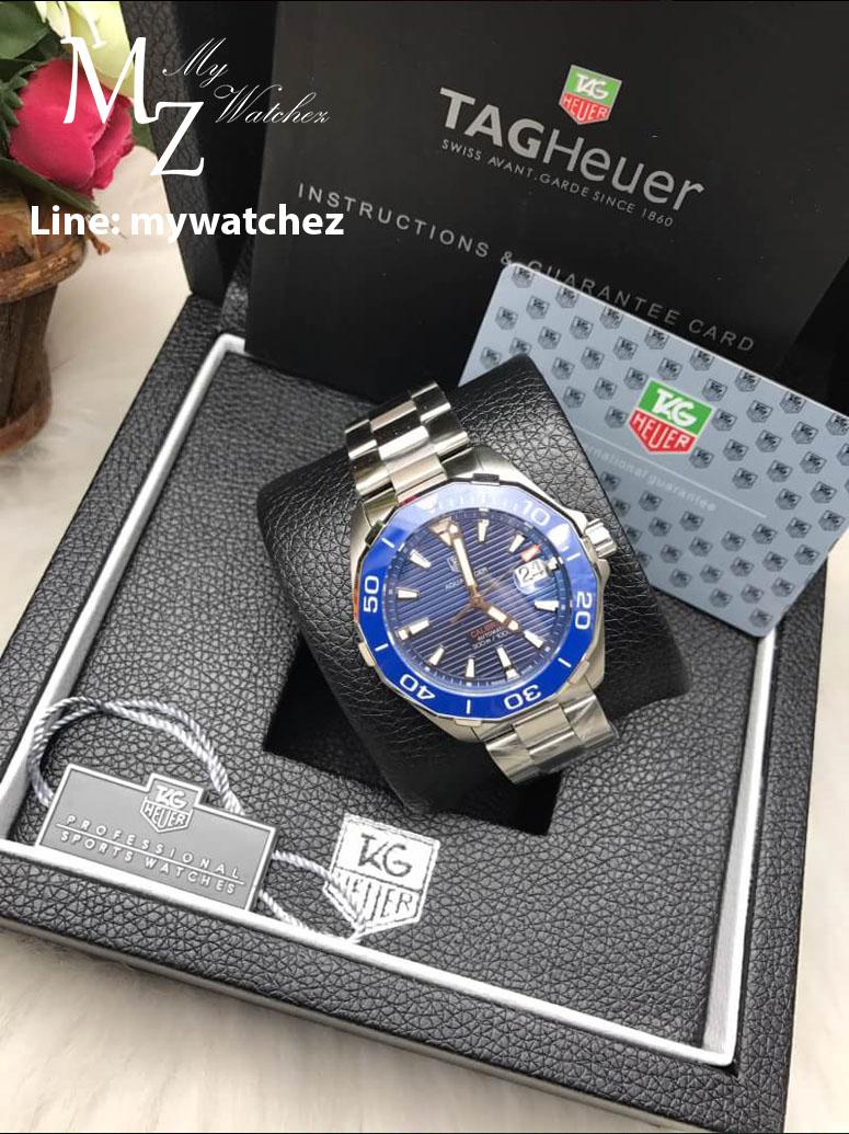 Tag Heuer AQUARACER 300 M Calibre 5 Ceramic Bezel - REF;WAY201A.BA0927 Blue Dial
