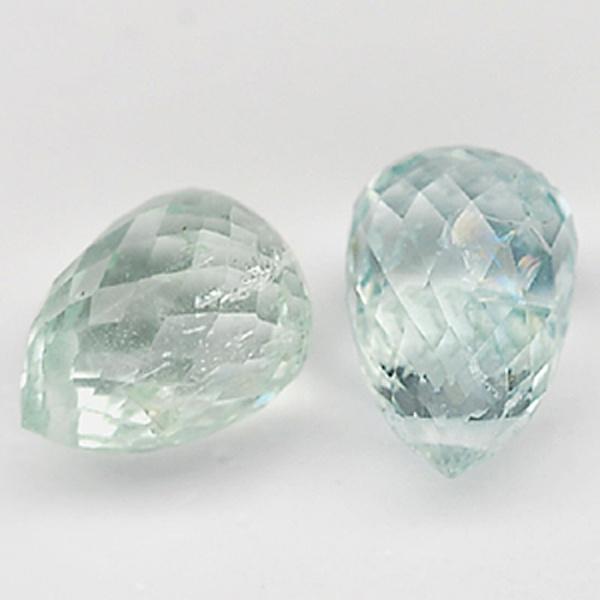 พลอยอความารีน (Aquamarine) พลอยธรรมชาติแท้ น้ำหนัก 3.45 กะรัต