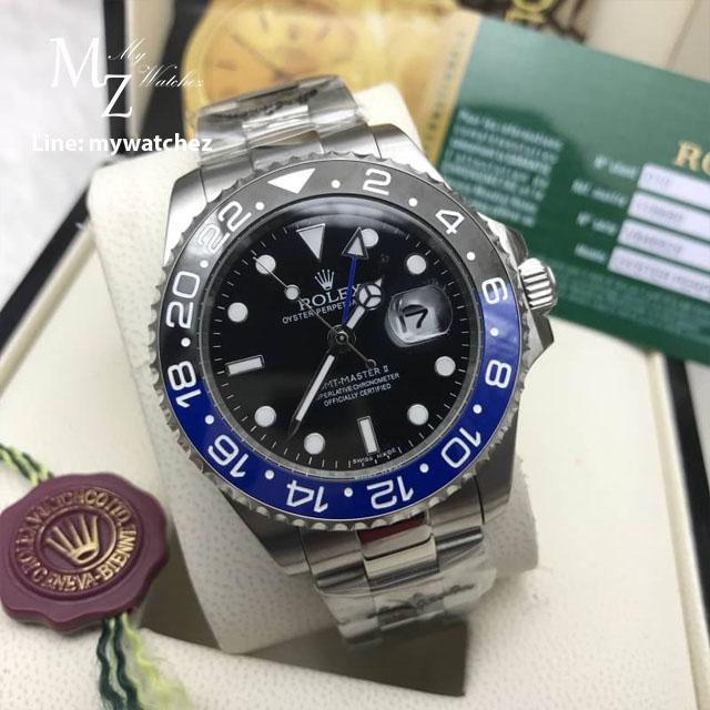 Rolex GMT MasterII Ref: 116710BLNR Batman Bezel