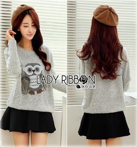 Lady Owl Fur Sweater เสื้อสเวตเตอร์ขนเฟอร์
