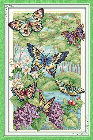 Butterflies in the forest (ไม่พิมพ์/พิมพ์ลาย)