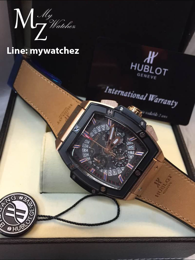 Hublot Mp-06 Aryton Senna Champion 88 - ฺBlack Bezel Italian Brown Strap