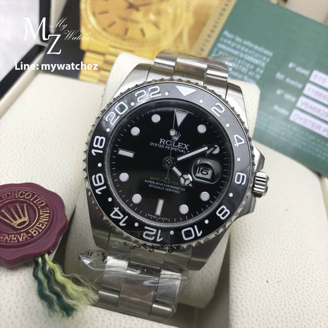 Rolex GMT Master II - Black Dial Stainless/Green GMT Ref# 116710LN