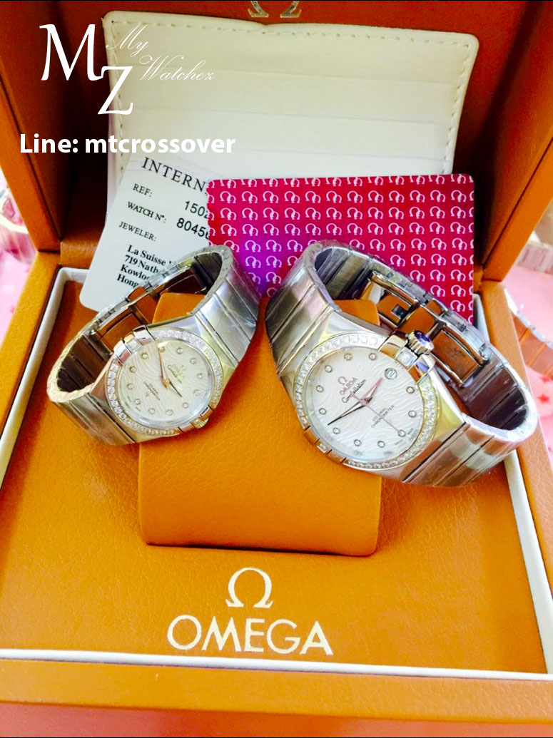 Omega Constellation Co-Axial for Ladies Diamond Dial and Silver case