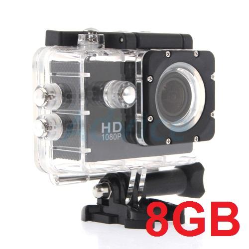 Action Camera WT02 FREE 8G คุณภาพ เกินราคา 12M FULLHD 1080P ลงน้ำลึก30เมตร
