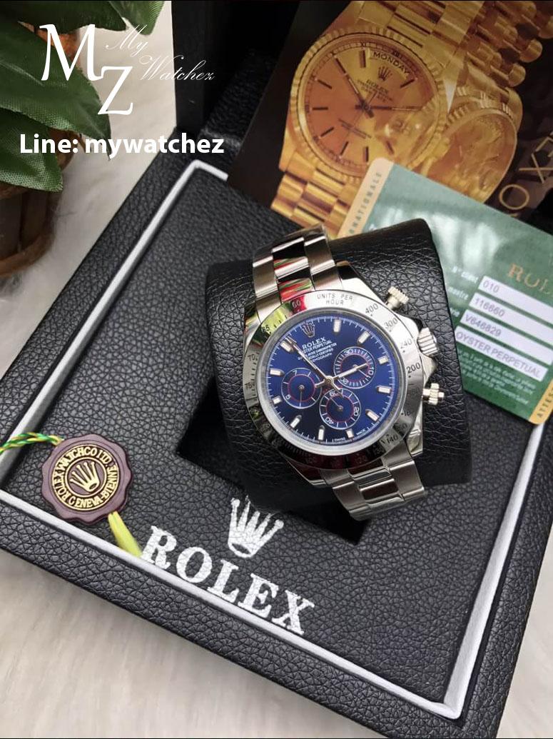 Rolex Daytona Cosmograph 2016 Ref#116509 - White Gold Blue Dial