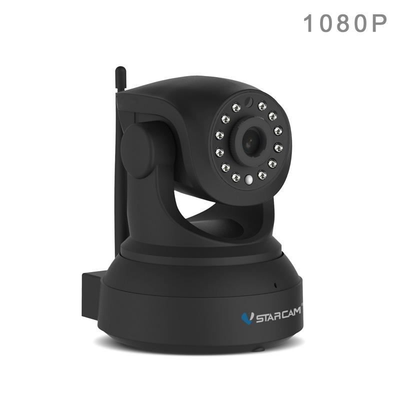 กล้องวงจรปิดไร้สายดูผ่านเน็ต VStarCam รุ่น C82R 64G 2ล้าน Pixel 1080P แท้ สีดำด้าน สวยมากๆ