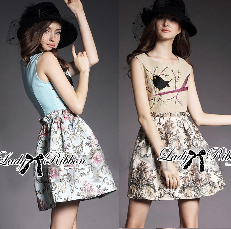 Lady Ribbon's Made &#x1F380 Lady Anna Dreamy Garden Embroidered Sleeveless Dress