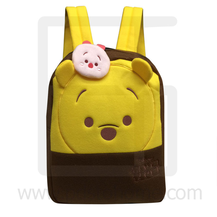 Preschool, Nursery school, Genuine Brand, Cartoon Backpack, lint, Pooh Tsum Tsum