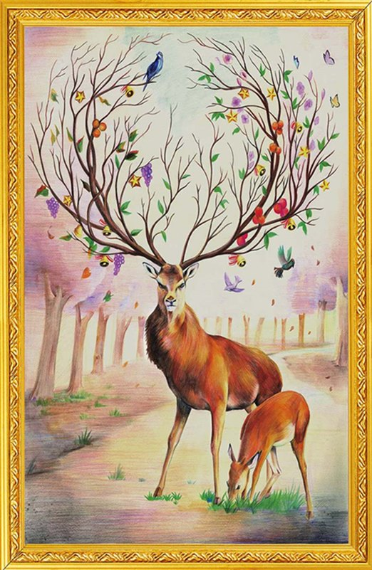 Elegant deer (พิมพ์ลาย)