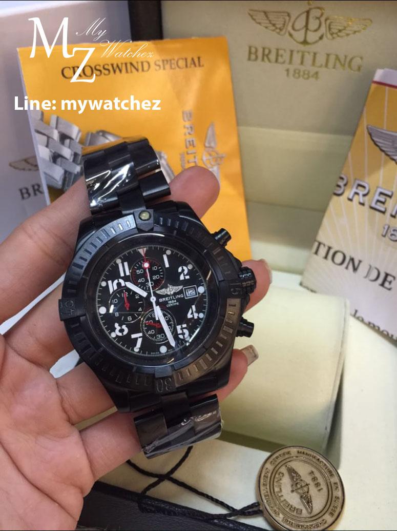 Breitling Super Avenger Watch - Black PVD/ฺBlack Dial