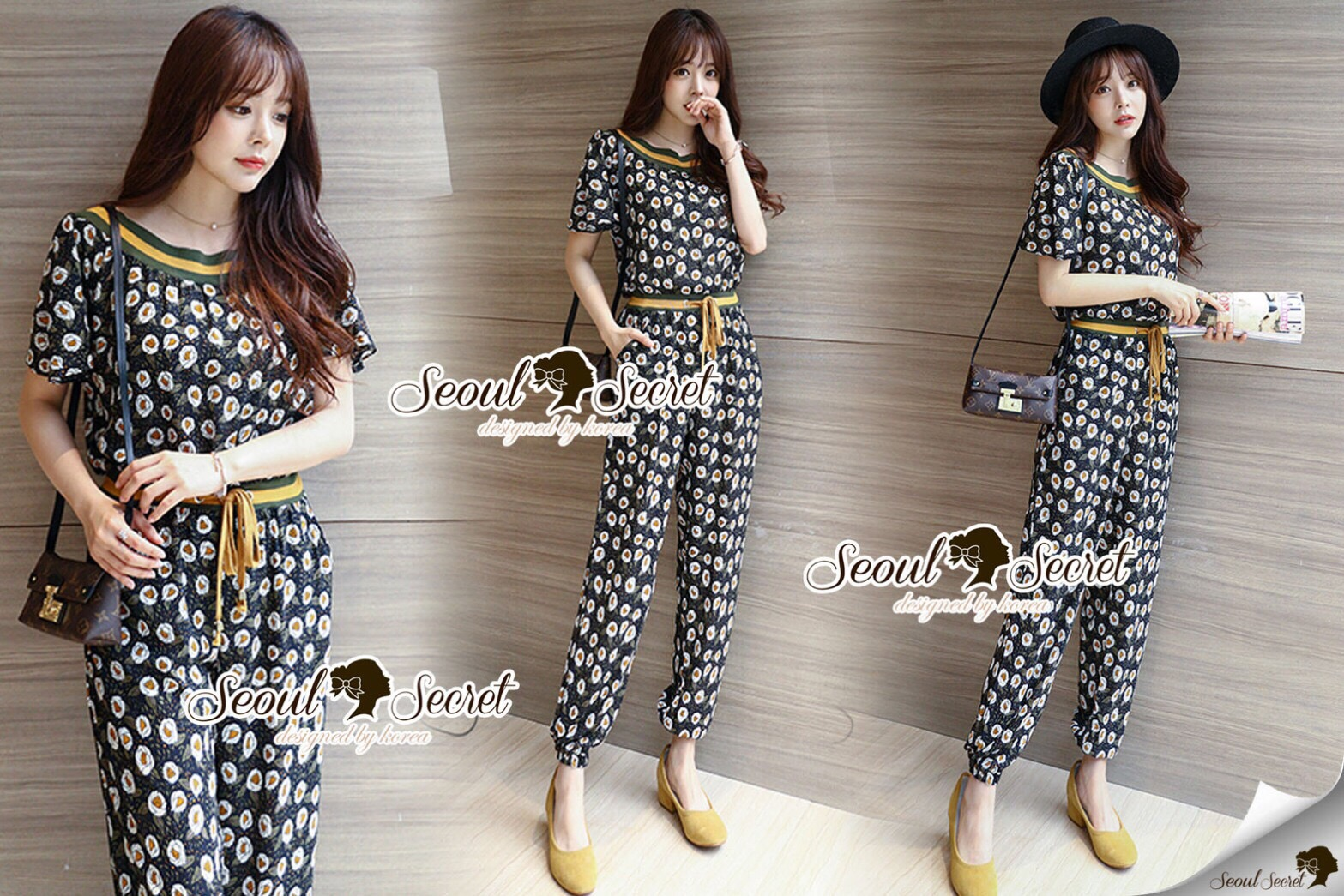 Lady Ribbon Brand SS05300516 Seoul Secret Say's... Sherbetty Line Color Long Plysuit