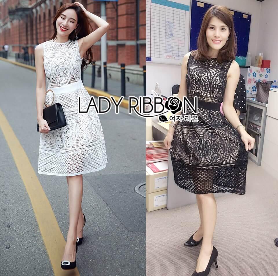 &#x1F380 Lady Ribbon's Made &#x1F380 Lady Emma Royal Elegant Classic Black Lace Dress