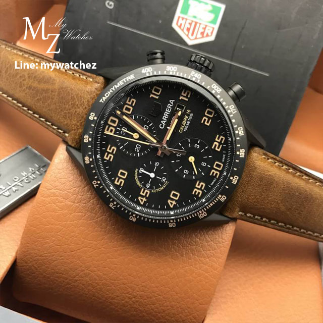 TAG Heuer Carrera Calibre 16 Day-Date Chronograph Black Titanium - Automatic